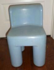 VGUC Vintage Rare Little Tikes Rainbow Chair Chunky Child Size Chair Blue