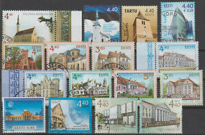 ARCHITECTURE ESTONIA small collection of used stamps