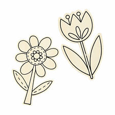 Color Your Own Spring Flowers - Craft Kits - 24 Pieces