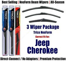 3-Pack Wipers Front & Rear NeoForm - fit 2014+ Jeep Cherokee - 16260/180/14A