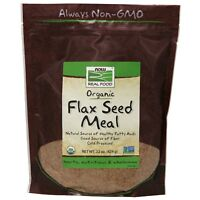 NOW Foods Flax Seed Meal, Organic, 22 oz.