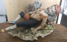 Large Capodimonte figure figurine ornament Street Gypsy Drunk Man approx 14x7.5""
