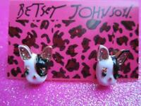 Betsey Johnson Terrier Dog Stud Earrings
