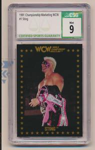 1991 Championship Marketing WCW Sting PROMO No Number CSG 9