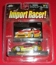 IMPORT RACER - NEW - GOLD & RED TOYOTA SUPRA - 1:64 - DIE-CAST - JADA TOYS