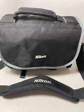 Nikon SLR Camera Gadget Bag-Black with Gray Trim with Shoulder Strap
