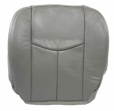 2005 2006 Chevy Silverado 3500 LT Driver Side Bottom LEATHER Seat Cover Gray