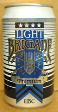 BRIGADE LIGHT BEER Can with SWORDS & GRAINS, Evansville Brewing Co., INDIANA, 1+