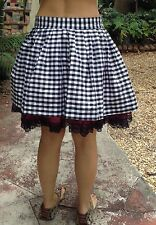 Bebe Skirt Plaid Pin Up Sexy Xs Club Black White Prom Dancer Day Summer Retro