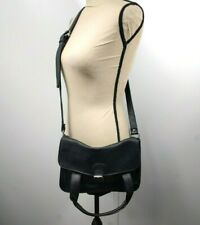 Olsenboye Black Messenger Crossbody Bag Purse Tote Vegan Leather