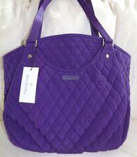 VERA BRADLEY GLENNA Purse - Elderberry Purple Microfiber - Over the shoulder NWT