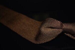 NWT #1 MENSWEAR Brooks Brothers Slinky Knit Mocha Brown Honeycomb Silk Tie NR