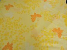 SPRINGMAID Vintage Full Size Flat Sheet & Pillowcase Yellow/Orange Butterfly 3pc