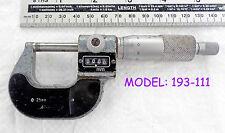 Mituoyo 0-25mm x .001mm analogico di lettura CRICCHETTO Micrometro No:193-111 vecchio strumento