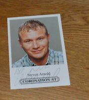 Steven Arnold Coronation Street Hand Signed Cast Card Photo