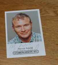 Steven Arnold Coronation Street Hand Signed Cast Card Photo