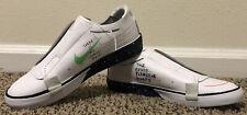 Nike Blazer Planet of Hoops Womens Lowtop slip on white shoe Size 5.5 Glow in Dk