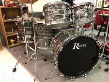 Vintage Rogers Londoner Drum Set 12,13,16,18,22 1974 Black Strata Pearl Nice!