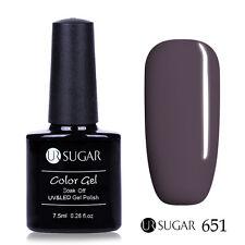 Pure Colors Nail UV Gel Polish Soak Off Gel Manicure Varnish Shiny Gray Purple