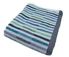Peri Home striped hand towel 18 x 28 white gray aqua green MCM inspired