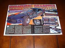 1969 MUSTANG MACH IV 4 ENGINE RACE CAR     ORIGINAL 1998 ARTICLE