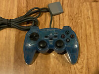 HORI ANALOG SINDOU PAD Controller PS1/PS2 PlayStation 1/2 Clear Blue