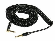 SuperFlex Gold Heavy-Duty Coiled Cord Guitar / Instrument Cable - 25'