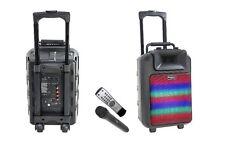 IBIZA son power8-led avec intégré BATTERIE RECHARGEABLE BLUETOOTH VHF