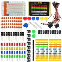 Jumper Wire Breadboard Resistor Button Buzzer LED Starter Kit for Arduino EU