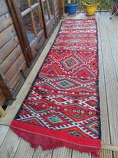 Runner Boho Moroccan Carpet Rug Patterned Kilim Berber Ethnic Genuine Vintage CV