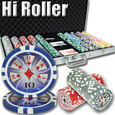 New 750 High Roller 14g Clay Poker Chips Set with Aluminum Case - Pick Chips!