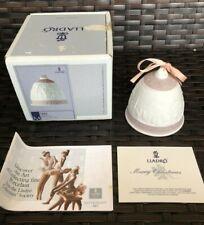 Lladro 1991 Christmas Bell Porcelain Ornament 5803 Original Box and Paperwork