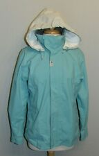 TRIBORD WOMEN'S JACKET RAIN COAT WATERPROOF BREATHABLE LINED SHELL BLUE SM EUC