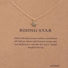 STAR NECKLACE GOLD PLATED BEAUTIFUL MAKE A WISH NECKLACE RISING STAR