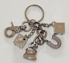 Kathy Van Zeeland KVZ Dice Rhinestone Horseshoe Purse Charm Keychain R8646