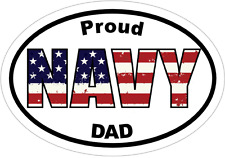 Navy Decal - PROUD NAVY DAD Vinyl Sticker- Navy Dad Bumper Sticker Navy Sticker