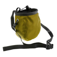 Outdoor Climbing Addict Chalk Bag w/ Adjustable Belt For Rock Climbers Green