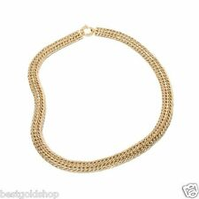 "18"" Sevilla Gold Domed Spiga Wheat Chain Necklace  Real 14K Yellow Gold HSN"