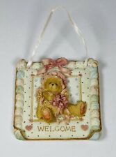 New Listing1993 Enesco Cherished Teddies 🧸 Welcome Porcelain Plaque~ Priscilla Gilman