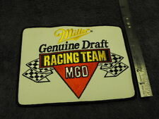 Miller Genuine Draft MGD Racing Team ,Large  Cloth Patch