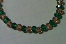 Green & Yellow Oregon Ducks Glass Bead Stretch Bracelet  - Fashion Jewelry