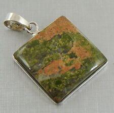 Semi-Precious RUSSIAN UNAKITE & 925 Sterling Silver Pendant - 74q - Xmas Gift