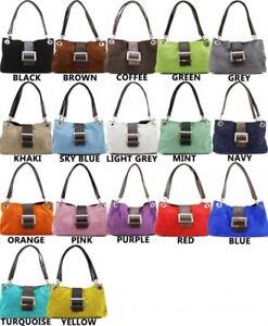 Women's Italian Suede Leather Small buckle Handbag