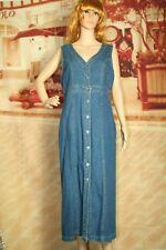 D.P.S. New York vintage denim button front pinafore sleeveless dress size M