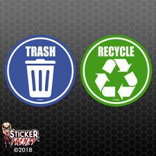 Trash Recycle Sticker - Home Office Container Symbol Vinyl Decal Choose Size