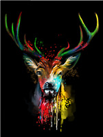 DIY Digital Deer Oil Painting Canvas Kit Paint by Numbers Kids Gifts Home Decor