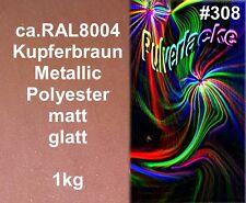 PULVERLACK 1kg Beschichtungspulver Pulverbeschichtung RAL8004 Kupfer Metallic
