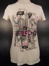 Cool Girl's Medium Volcom White Volcom Branded Short Sleeve T-Shirt GUC