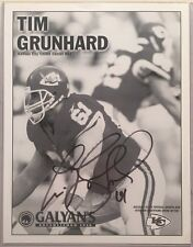 Tim Grunhard #61- Kansas City Chiefs Center - Autograph Photo (8.5 x11)