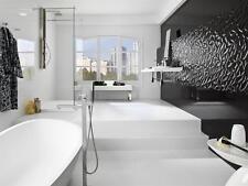 3D Super Black Leaves High Gloss Ceramic Wall Tiles 90X30 Kitchen Bathroom